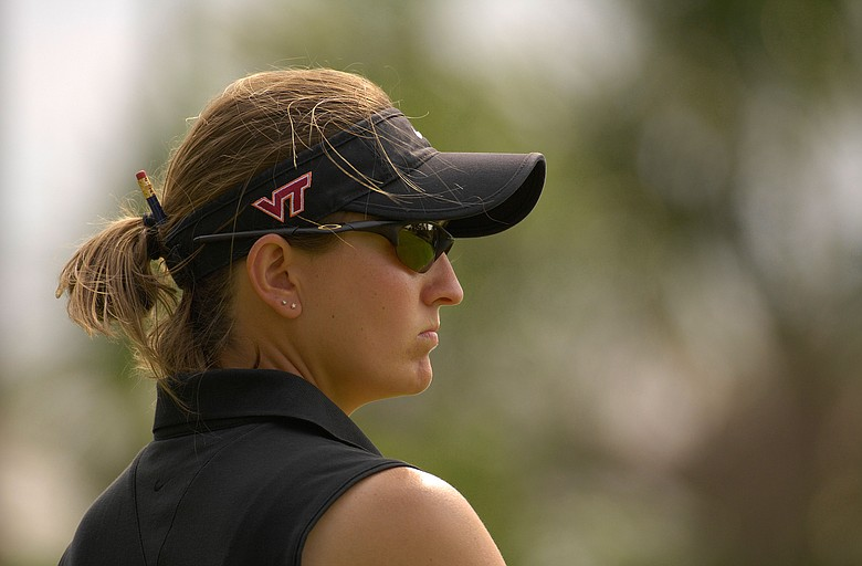 Georgia coach Veronique Drouin during the Women's Division I Golf Championships
