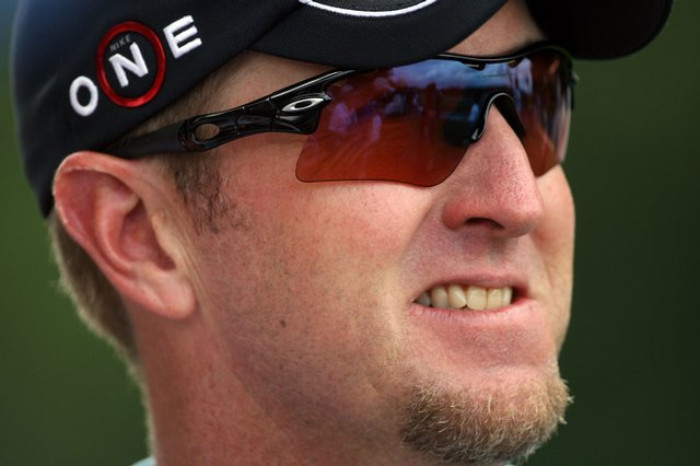 David Duval smiles during the third round of the U.S. Open at Bethpage Black.