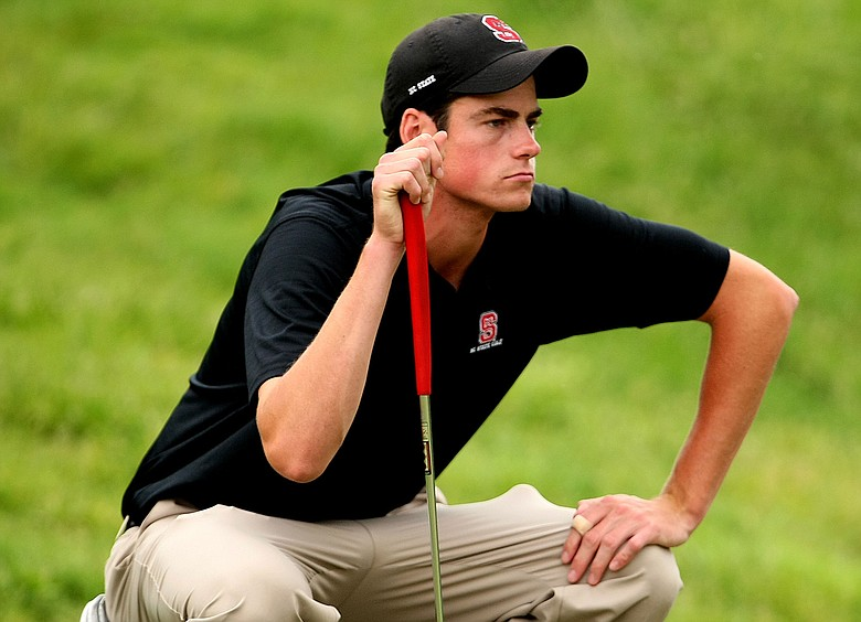 North Carolina State's Matt Hill during the second round of stroke play at the 2009 NCAA Golf Championships.
