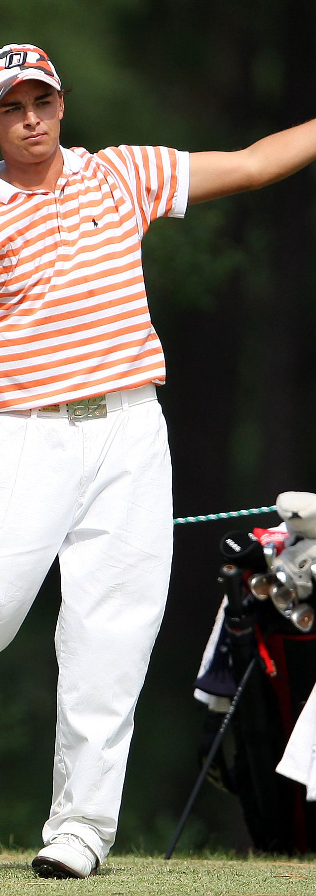 Oklahoma State&#39;s Rickie Fowler opened with a 3-over 75 at the NCAA South regional.