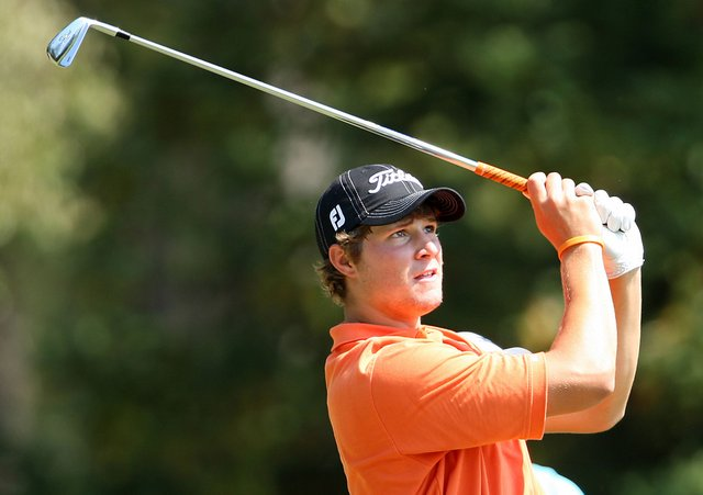 Oklahoma State's Peter Uihlein is tied for the lead after two rounds at the NCAA South Regional.