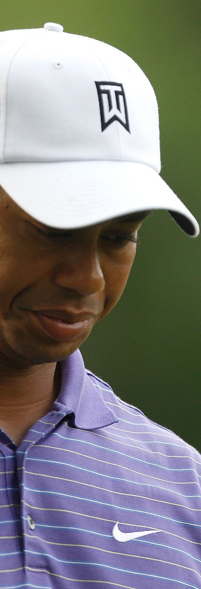 Tiger Woods looks down during the third round of the Quail Hollow Championship at the Quail Hollow Club.
