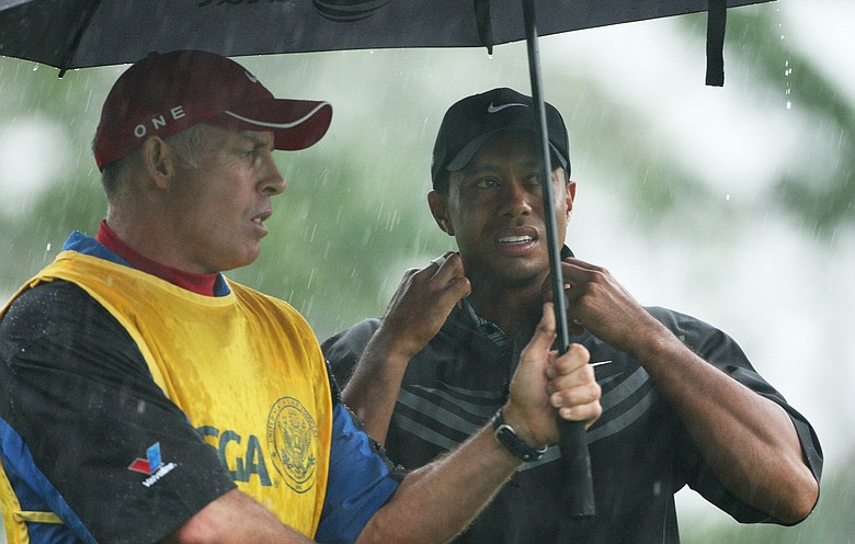 Rain started falling moments before play began at 7 a.m., prompted a suspension at 10:16 a.m., and the United States Golf Association gave up hope for the day just before 2 p.m.
