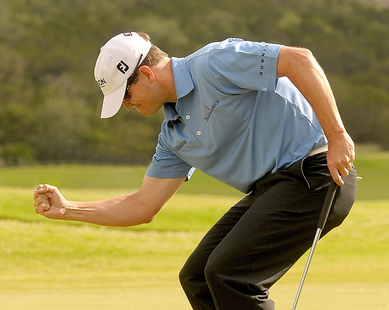 Zach Johnson wins the Valero Texas Open held at La Cantera Golf Club.