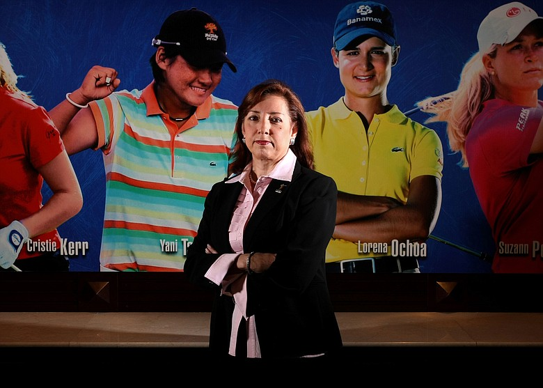LPGA Commissioner, Carolyn Bivens photographed at the LPGA International Headquarters in Daytona Beach, Fla..