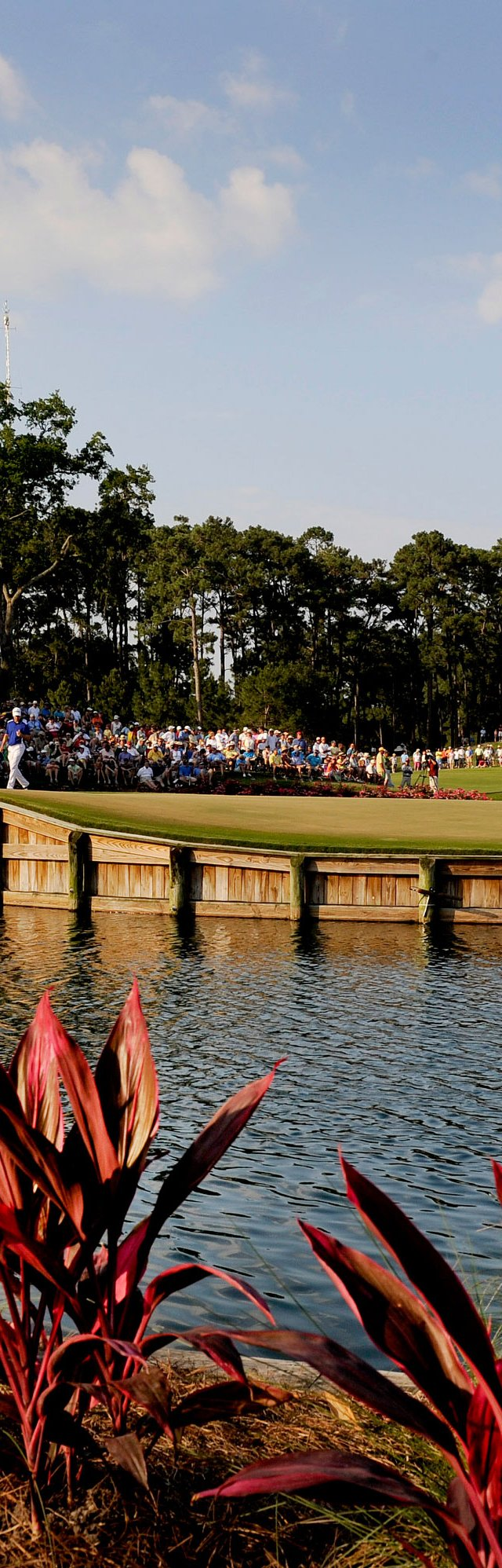 Henrik Stenson places his ball on the 17th green during the final round of THE PLAYERS Championship on THE PLAYERS Stadium Course at TPC Sawgrass.