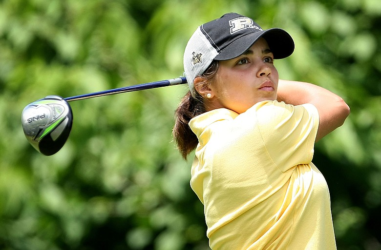 Purdue's Maria Hernandez was the individual medalist at the 2009 NCAA Women's Golf Championships at Caves Valley Golf Club.