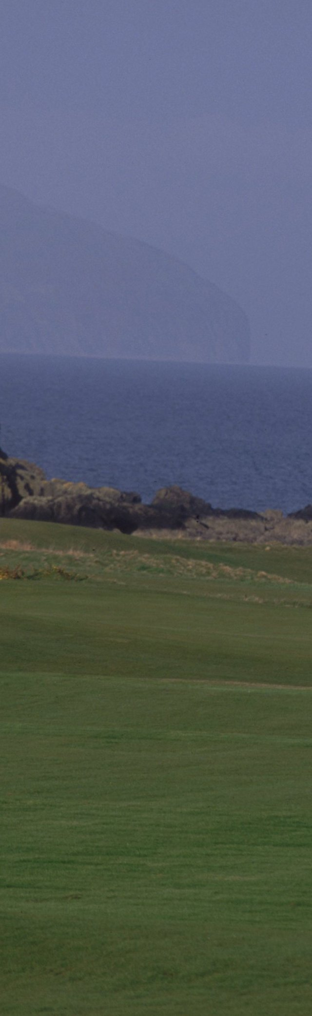 General view of the Par 4, 11th Hole on the Kintyre Course at Turnberry Hotel in Ayrshire, Scotland. Hole No. 10 would be even better if they would move the green way left to the site of the 11th tee along the shore, which would make for an even more dramatic par 4.