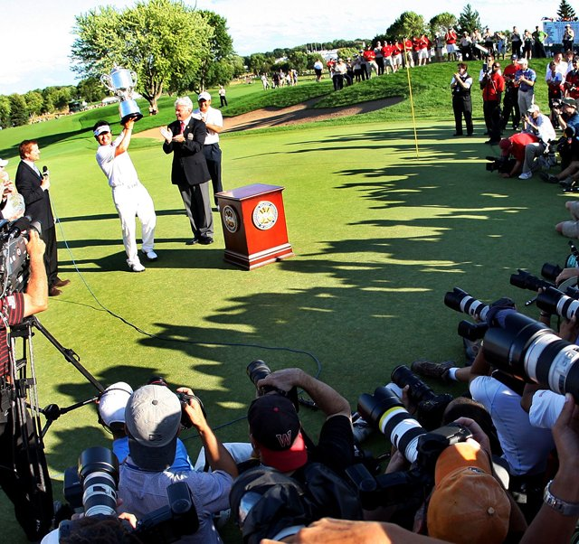 Y.E. Yang of South Korea after winning the 2009 PGA Championship. 