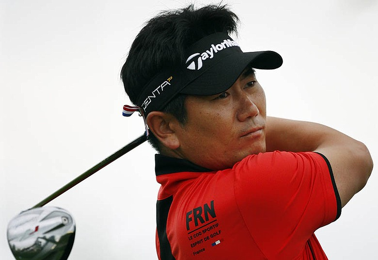 Y.E. Yang hits a shot Thursday at The Barclays.