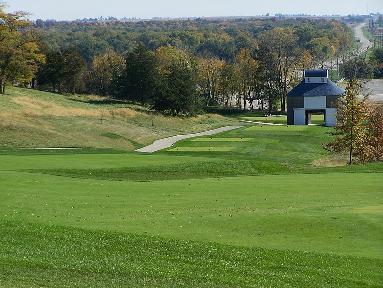 The view from the 15th hole at Blue Top Ridge in Riverside, Iowa, host of Golfweek's Conference Challege.