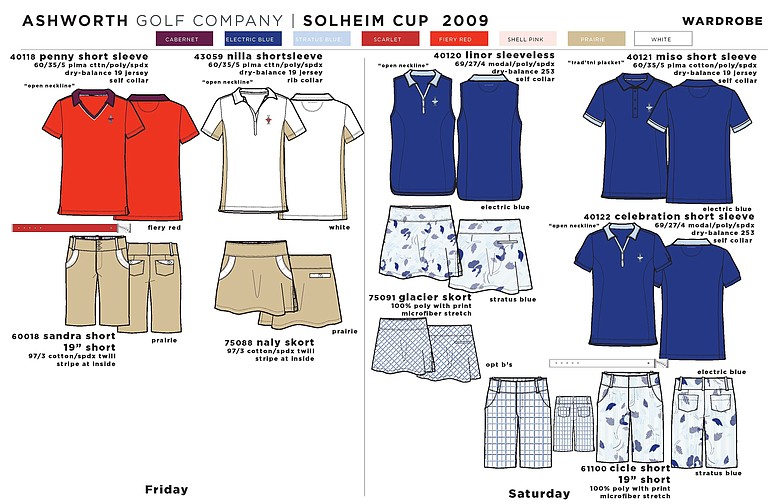 Apparel scripting from Ashworth for Team USA.
