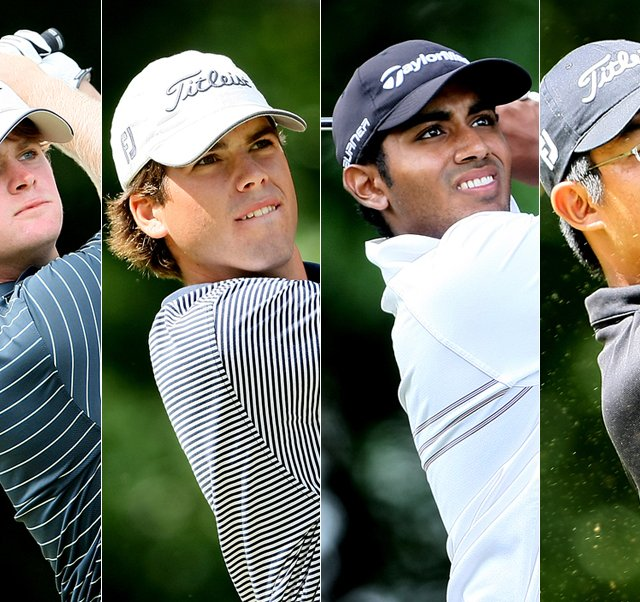 U.S. Amateur semifinalists (from left to right): Charlie Holland, Ben Martin, Bhavik Patel, Byeong-Hun An.