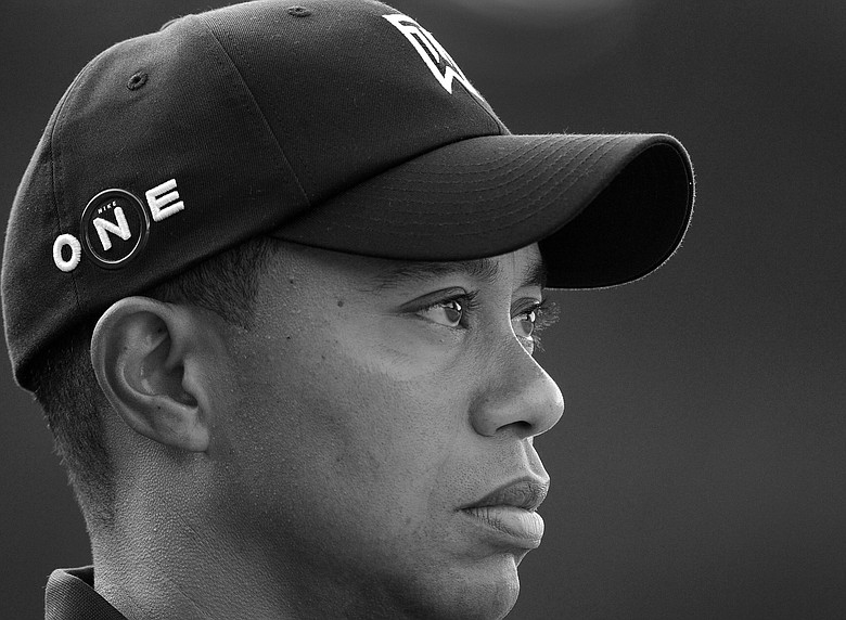 Tiger Woods watches play from the fourth tee box during the Deutsche Bank Championship Pro-Am held at TPC Boston on September 3, 2009 in Norton, Massachusetts.