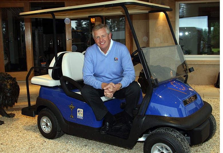 European Ryder Cup captain Colin Montgomerie received his Captain's Golf Buggy in August.