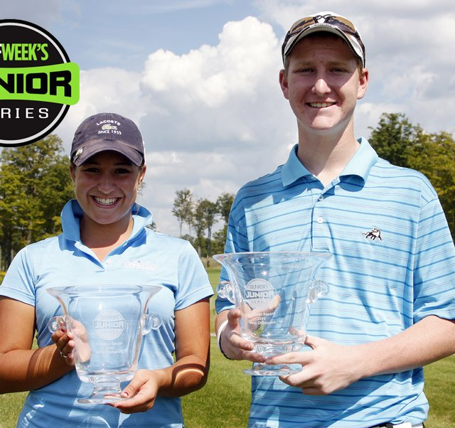 Chelsea Pezzola and Jordan Niebrugge advance to the Golfweek Junior Invitational in November.