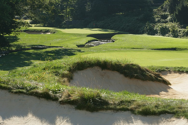 The par-4 11th at Merion, where Bobby Jones completed his Grand Slam in 1930.