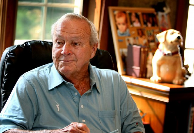 Arnold Palmer in his office in Latrobe, Pa., on the eve of his 80th birthday.