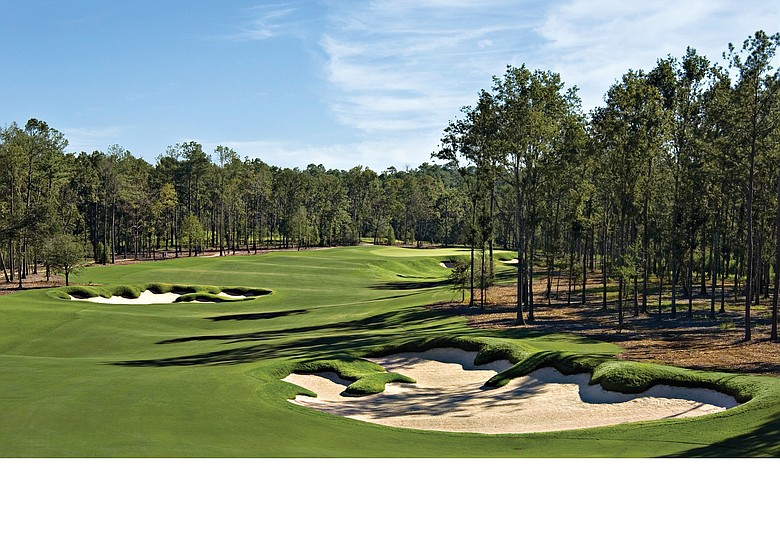 The 15th hole at Fallen Oak Golf Club in Saucier, Miss.