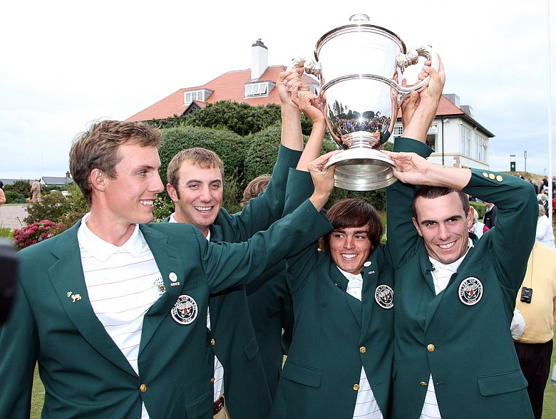 Rickie Fowler already experienced Walker Cup glory in 2007 with teammates Jamie Lovemark, Dustin Johnson and Billy Horschell.
