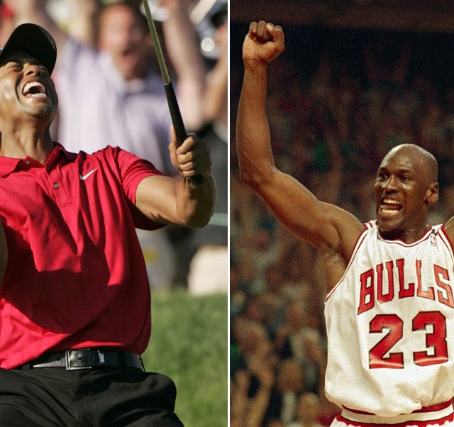 Tiger Woods at the 2008 U.S. Open. Michael Jordan in the 1992 NBA Finals.