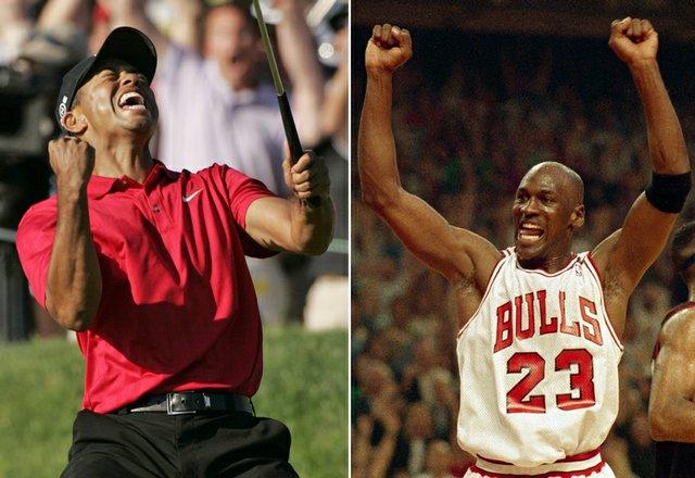 Tiger Woods at the 2008 U.S. Open. Michael Jordan in the 1992 NBA Finals.
