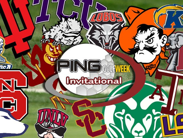 The fifteen teams competing in the Ping/Golfweek Invitational.