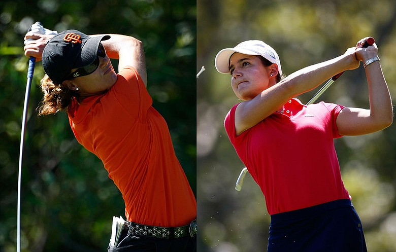 Sophie Gustafson (left) and Lorena Ochoa are set for a Sunday duel at the CVS/pharmacy Challenge.