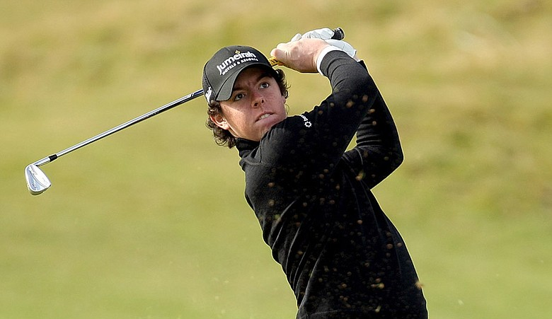 Rory McIlroy on the 14th hole during the first round of The Alfred Dunhill Links Championship.
