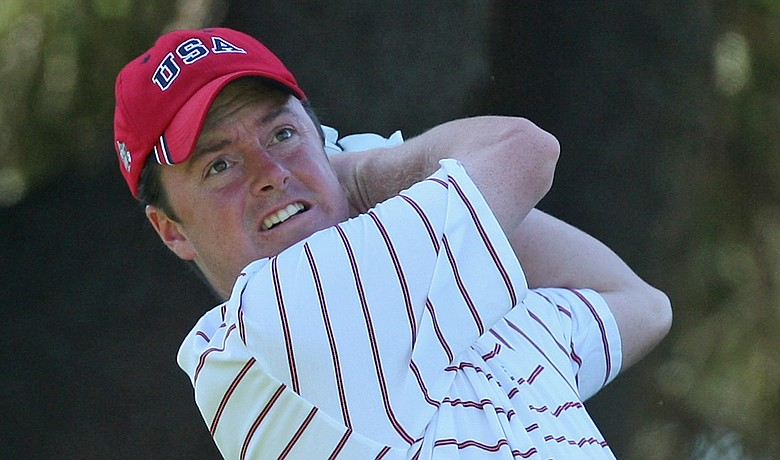 Mid-amateur Nathan Smith during the 2011 Walker Cup.