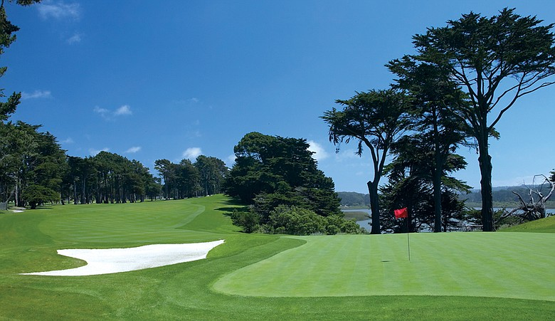 No. 15 at Harding Park, which will be used as No. 12 in the Presidents Cup.