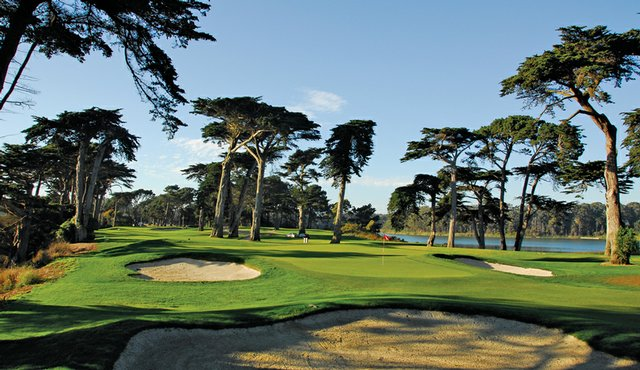 No. 16 at Harding Park, which was used as No. 13 in the 2009 Presidents Cup.