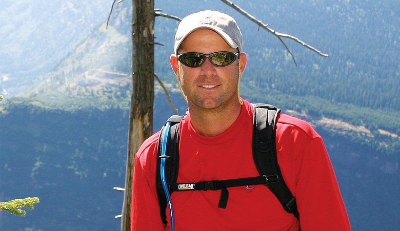 Stewart Cink hikes in Montana.