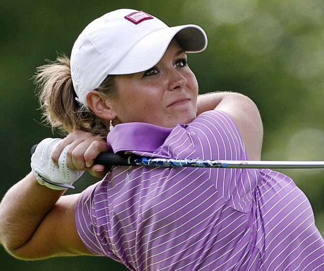 Mallory Blackwelder hits her tee shot at the 2008 Jamie Farr Owens Corning Classic.
