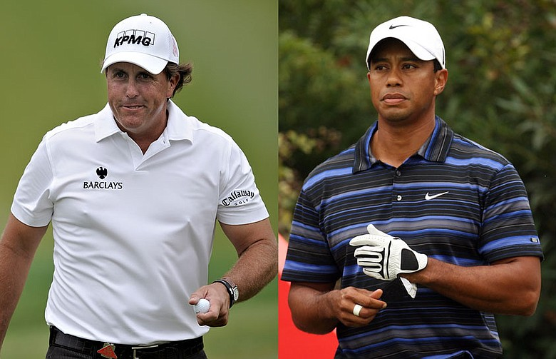 "Phil Mickelson and Tiger Woods will be paired the final group Sunday for the first time since the famous ""Duel at Doral"" in 2005."
