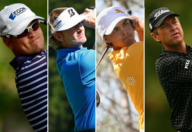 (From left to right) Zach Johnson, Brandt Snedeker, Rickie Fowler and Davis Love III.