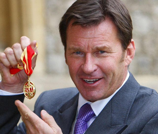 Nick Faldo received his knighthood from Queen Elizabeth II at Windsor Castle in Berkshire, England, on Nov. 10.