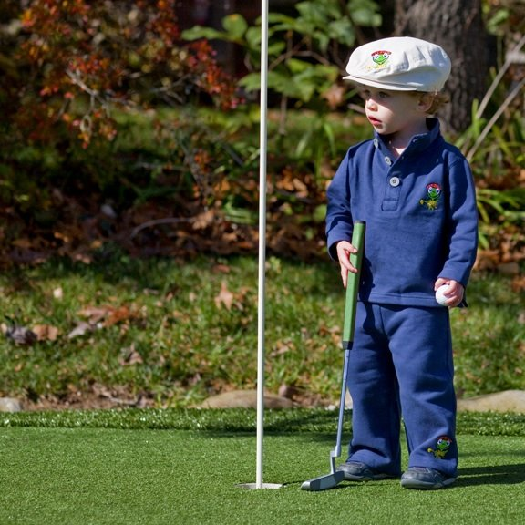 Fleece set from the The Littlest Golfer.