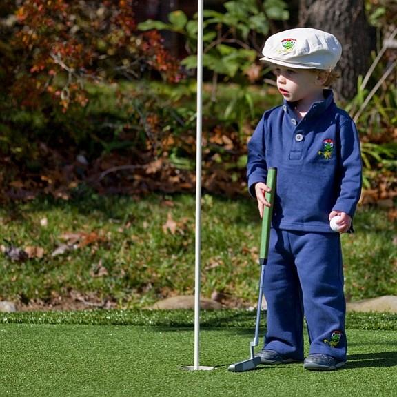 Fleece set from the The Littlest Golfer.