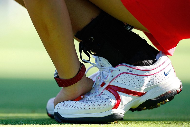 Michelle Wie sports her winning Solheim Cup shoes during her first LPGA victory at the Lorena Ochoa Invitational.