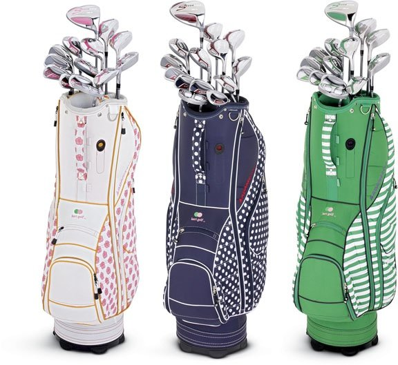 Adams&#39; Idea a 7OS clubs in choice of three stylish cart bags. 