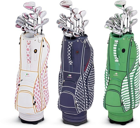 Adams' Idea a 7OS clubs in choice of three stylish cart bags.