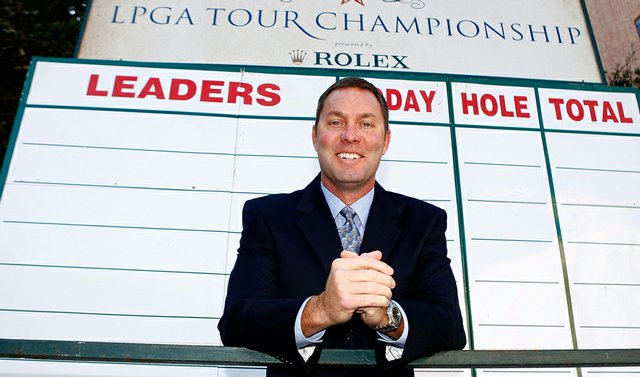 LPGA commissioner Michael Whan prior to the start of the LPGA Championship.