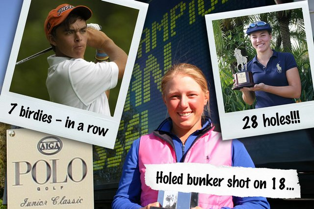 (From top left, clockwise), Rickie Fowler, Vicky Hurst and Morgan Pressel.