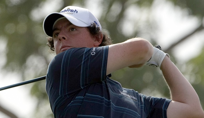 Northern Ireland's Rory McIlroy competes during Round 2 Dubai World Championship.
