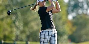 McPherson leads LPGA finale; Monday finish
