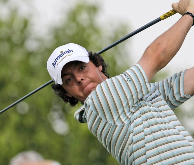 Rory McIlroy during the final round of the Dubai World Championship.