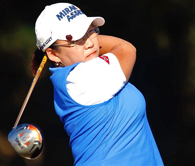 Jiyai Shin is one-stroke behind Kristy McPherson heading into the final round of the LPGA Tour Championship.