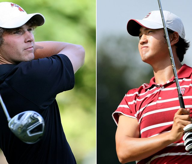 Oklahoma State sophomore Peter Uihlein (left) and Stanford junior Sihwan Kim lead the top two teams in the nation.