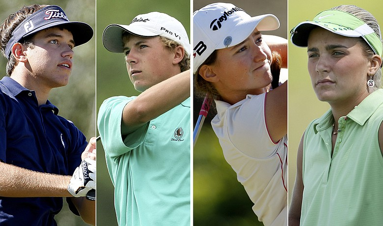 (Left to right) Cory Whitsett, Jordan Spieth, Victoria Tanco and Alexis Thompson.